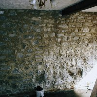 Interior wall prior to plastering