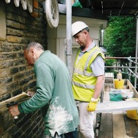 Richard Childs working with Andy on a Traditional Building Skill Bursary Scheme